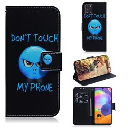 Not Touch My Phone PU Leather Wallet Case for Samsung Galaxy A31