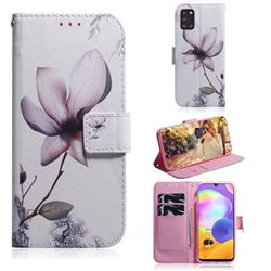 Magnolia Flower PU Leather Wallet Case for Samsung Galaxy A31