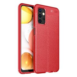 Luxury Auto Focus Litchi Texture Silicone TPU Back Cover for Samsung Galaxy A32 5G - Red