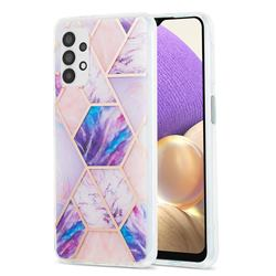 Purple Dream Marble Pattern Galvanized Electroplating Protective Case Cover for Samsung Galaxy A32 5G