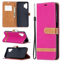 Jeans Cowboy Denim Leather Wallet Case for Samsung Galaxy A32 5G - Rose