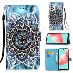 Underwater Mandala Matte Leather Wallet Phone Case for Samsung Galaxy A32 5G