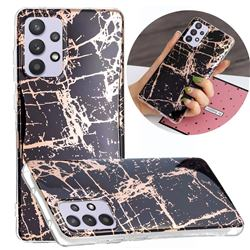 Black Galvanized Rose Gold Marble Phone Back Cover for Samsung Galaxy A32 5G