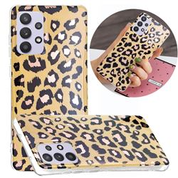 Leopard Galvanized Rose Gold Marble Phone Back Cover for Samsung Galaxy A32 5G