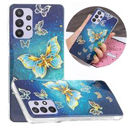 Golden Butterfly Painted Galvanized Electroplating Soft Phone Case Cover for Samsung Galaxy A32 5G