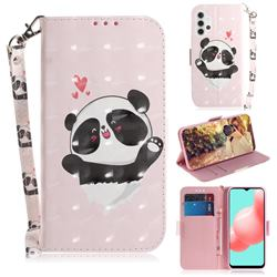 Heart Cat 3D Painted Leather Wallet Phone Case for Samsung Galaxy A32 5G