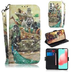 Beast Zoo 3D Painted Leather Wallet Phone Case for Samsung Galaxy A32 5G