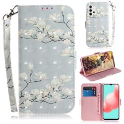 Magnolia Flower 3D Painted Leather Wallet Phone Case for Samsung Galaxy A32 5G