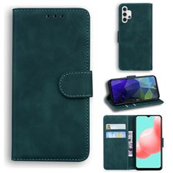 Retro Classic Skin Feel Leather Wallet Phone Case for Samsung Galaxy A32 5G - Green