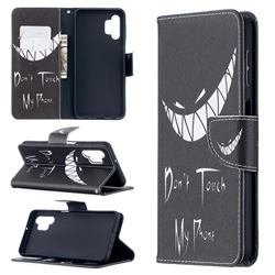 Crooked Grin Leather Wallet Case for Samsung Galaxy A32 5G