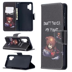 Chainsaw Bear Leather Wallet Case for Samsung Galaxy A32 5G