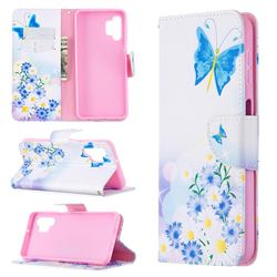 Butterflies Flowers Leather Wallet Case for Samsung Galaxy A32 5G