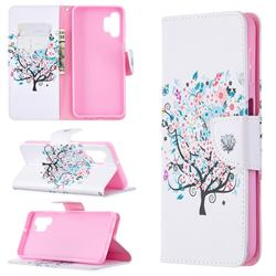 Colorful Tree Leather Wallet Case for Samsung Galaxy A32 5G