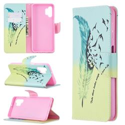 Feather Bird Leather Wallet Case for Samsung Galaxy A32 5G