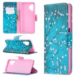 Blue Plum Leather Wallet Case for Samsung Galaxy A32 5G