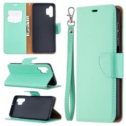 Classic Luxury Litchi Leather Phone Wallet Case for Samsung Galaxy A32 5G - Green