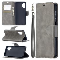 Classic Sheepskin PU Leather Phone Wallet Case for Samsung Galaxy A32 5G - Gray