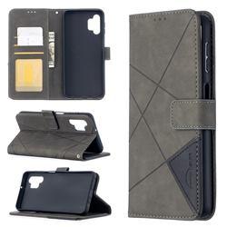 Binfen Color BF05 Prismatic Slim Wallet Flip Cover for Samsung Galaxy A32 5G - Gray