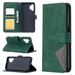 Binfen Color BF05 Prismatic Slim Wallet Flip Cover for Samsung Galaxy A32 5G - Green