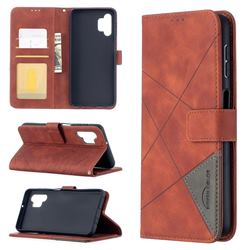 Binfen Color BF05 Prismatic Slim Wallet Flip Cover for Samsung Galaxy A32 5G - Brown