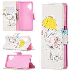 Umbrella Elephant Leather Wallet Case for Samsung Galaxy A32 5G