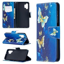 Golden Butterflies Leather Wallet Case for Samsung Galaxy A32 5G