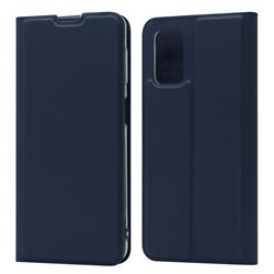 Ultra Slim Card Magnetic Automatic Suction Leather Wallet Case for Samsung Galaxy A32 5G - Royal Blue