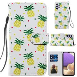 Pineapple Smooth Leather Phone Wallet Case for Samsung Galaxy A32 5G