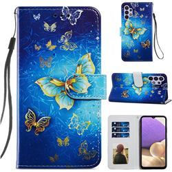 Phnom Penh Butterfly Smooth Leather Phone Wallet Case for Samsung Galaxy A32 5G