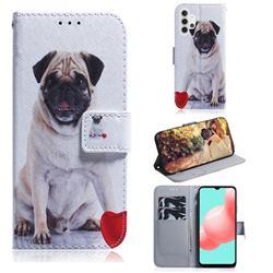 Pug Dog PU Leather Wallet Case for Samsung Galaxy A32 5G