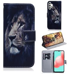 Lion Face PU Leather Wallet Case for Samsung Galaxy A32 5G