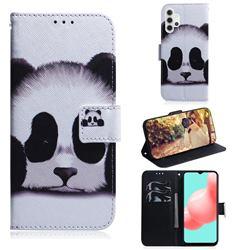 Sleeping Panda PU Leather Wallet Case for Samsung Galaxy A32 5G