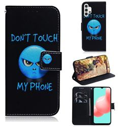 Not Touch My Phone PU Leather Wallet Case for Samsung Galaxy A32 5G