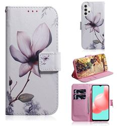 Magnolia Flower PU Leather Wallet Case for Samsung Galaxy A32 5G
