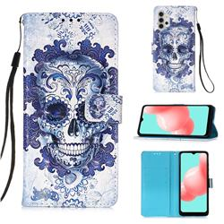 Cloud Kito 3D Painted Leather Wallet Case for Samsung Galaxy A32 5G