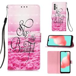 Beautiful 3D Painted Leather Wallet Case for Samsung Galaxy A32 5G