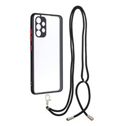 Necklace Cross-body Lanyard Strap Cord Phone Case Cover for Samsung Galaxy A32 4G - Black