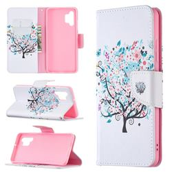 Colorful Tree Leather Wallet Case for Samsung Galaxy A32 4G