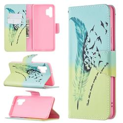 Feather Bird Leather Wallet Case for Samsung Galaxy A32 4G