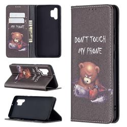 Chainsaw Bear Slim Magnetic Attraction Wallet Flip Cover for Samsung Galaxy A32 4G
