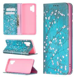 Plum Blossom Slim Magnetic Attraction Wallet Flip Cover for Samsung Galaxy A32 4G