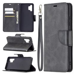 Classic Sheepskin PU Leather Phone Wallet Case for Samsung Galaxy A32 4G - Black