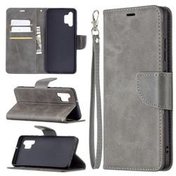 Classic Sheepskin PU Leather Phone Wallet Case for Samsung Galaxy A32 4G - Gray