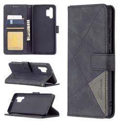 Binfen Color BF05 Prismatic Slim Wallet Flip Cover for Samsung Galaxy A32 4G - Black