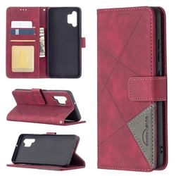 Binfen Color BF05 Prismatic Slim Wallet Flip Cover for Samsung Galaxy A32 4G - Red