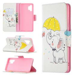 Umbrella Elephant Leather Wallet Case for Samsung Galaxy A32 4G