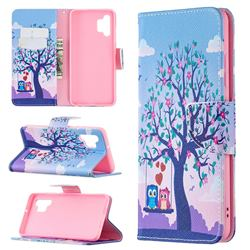 Tree and Owls Leather Wallet Case for Samsung Galaxy A32 4G