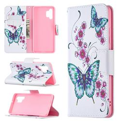 Peach Butterflies Leather Wallet Case for Samsung Galaxy A32 4G