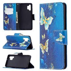 Golden Butterflies Leather Wallet Case for Samsung Galaxy A32 4G
