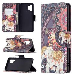 Totem Flower Elephant Leather Wallet Case for Samsung Galaxy A32 4G